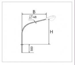 Кронштейн К2-0,5-0,5-0-1
