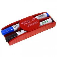 Стиратель магнитный для досок плюс 2 маркера