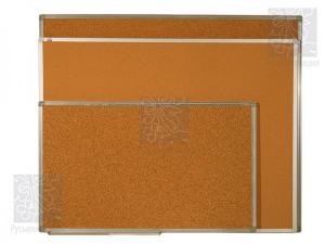 """Пробковая доска """"Профиль"""" в алюминиевой рамке 50х70 см"""