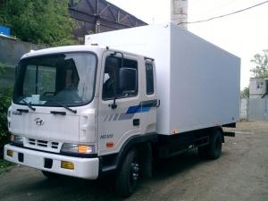 Изотермический и промтоварный фургон на шасси HYUNDAI