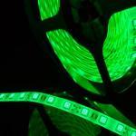 Герметичная светодиодная лента зеленого свечения 5050 300 led, IP65, 14,4 Вт/м, 12V