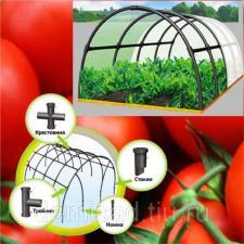 Переносной сборный арочный мини парник ПА 7 семисекционный пластиковый для дома, дачи, сада и огорода