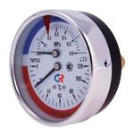 Термоманометр ТМТБ 3 Т.1 диапазон: 0 – 4; 6; 10; 16; 25 кгс/см2 / 0 – 120; 150 гр. С