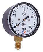 Манометры КМВ-22 (напоромер) («низкое давление») -60/…/2,5 – 0 – 2,5/…/ 60 кПа