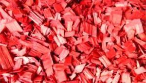 Декоративная щепа (красная) 60 л.