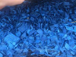 Декоративная щепа (синяя) 60 л.