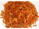 Декоративная щепа (оранжевая) 60 л.