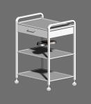 Столик с тремя полками, одним ящиком и лотком СИПС-03-01-Н