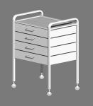 Столик с двумя полками и четырьмя ящиками СМИ-01-04Н