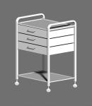 Столик с двумя полками и тремя ящиками СМИ-02-03Н (полки нерж сталь)