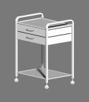 Столик с двумя полками и двумя ящиками СМИ-02-02Н
