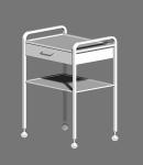 Столик с двумя полками и одним ящиком СМИ-02-01-НС