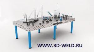 Сварочно-сборочный стол 3D-Weld Profi 1200х2000 мм