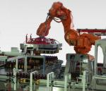 Автоматический депаллетайзер со снятием слоев с помощью манипулятора