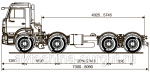 Грузовой автомобиль шасси Камаз 6540-3028-19(L4)