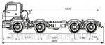 Грузовой автомобиль шасси Камаз 65201-3953-43