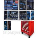 Набор инструментов в красной тележке, 235 предметов KING TONY 934A-235MRV