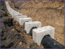 Утяжелители бетонные охватывающие для магистральных трубопроводов УБО, УТК, УБКм