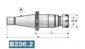 Патрон резьбонарезной с хвостовикомпо ГОСТ 25827-93 исп.3, конус 40-50, вылет 110-130, цанги 25-32 ER.T