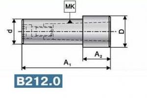 Втулки переходные удлиненные для инструмента с конусом Морзе и резьбовым отверстием по ГОСТ 25557-82 (DIN 228/B), хвостовик цилиндрический (вспомогательный инструмент для фрезерных патронов)