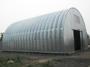 Утепленный металлический ангар, гараж, бокс для грузового транспорта.