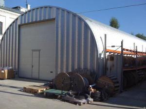 Утепленный промышленный ангар, склад, гараж. Арочный быстровозводимый.