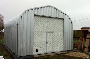 Утепленный арочный ангар, склад, гараж. Быстровозводимые сооружения.