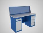 Верстаки с двумя тумбами ВТ1 (ящик + двер и полка)/ВТ3 (3 ящика)