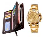 Портмоне CarWallet + Часы Rolex Daytona