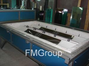 Гравитационное моллирование стекла в печи ПГМ-3111