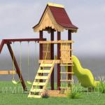 Детская игровая площадка «Охотничий домик» люкс