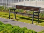 """Скамейка садовая """"Модерн"""", 1,88м - со спинкой и подлокотниками"""