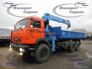 Кран-манипулятор на базе КАМАЗ