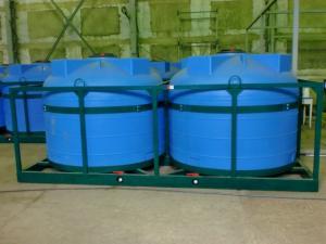 Емкости для перевозки воды Кассета 4500х2 - Противопожарный расчет с объемом воды в 18000 литров в кузове «КАМАЗ-сельхозтехника».