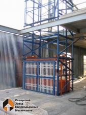 Грузовой подъемник для склада, производства, магазина