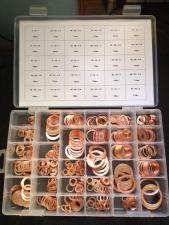 Набор медных шайб (колец) 568 штук 30 размеров