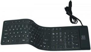 Клавиатура гибкая водо- пыле -стружкозащищенная
