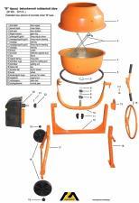 Запчасти для бетономешалок шестерня,ремень,конденсаторы