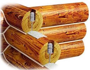 Компенсатор усадки сруба (для бревна и бруса)