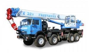 "Автокран КС-55729-1В ""Галичанин"" на шасси КАМАЗ 6540 (8*4) 32т длина стрелы 30 м и гусек 9м"