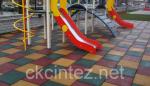 Pезиновое покрытие для детских площадок