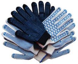 Перчатки ХБ, без пвх (с пвх)