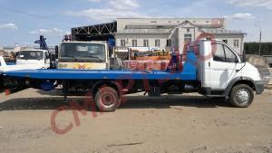 Эвакуатор со сдвижной платформой грузоподъемностью до 3 тонн ГАЗ-33104