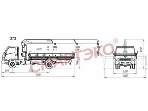 Автомобиль HD-78 с КМУ Unic 373, стальной борт