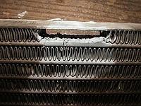 Ремонт охладителя наддувного воздуха