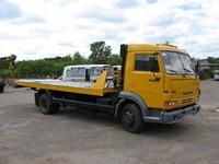 Сдвижной эвакуатор на шасси КАМАЗ-4308