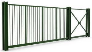 Промышленные откатные ворота консольного типа