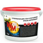 Водоэмульсионная краска Well Max стен и потолков 14кг
