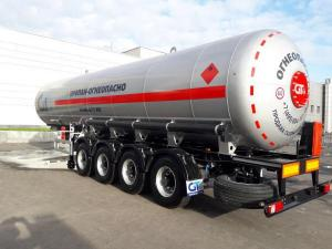 Полуприцеп-газовоз GT7, объем 44м3