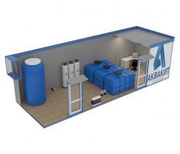 Система очистки воды в блок-боксе (вагоне-контейнере)
